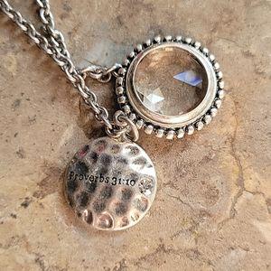 Premier Designs Proverbs 31:10 necklace
